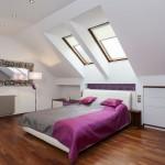 اسقف مائلة بغرف النوم الانيقة