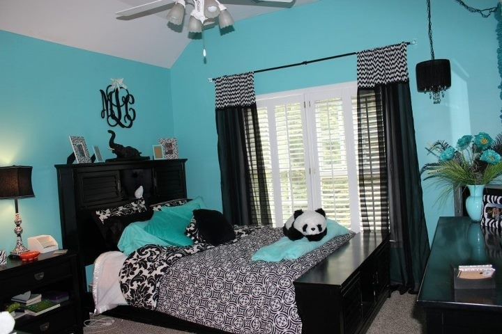 Blue And Black Bedroom teal blue bedroom - best bedroom 2017