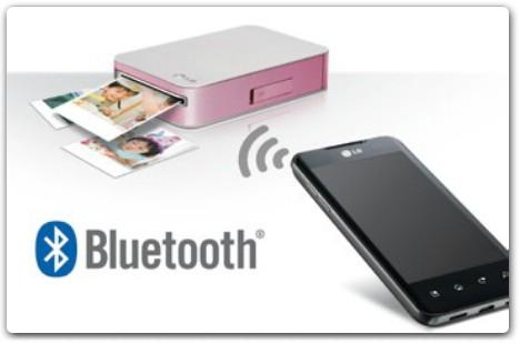 Connecting Bluetooth طابعة ال جي LG الذكية الصغيرة في الجيب