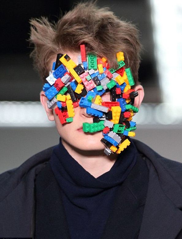 """Men's fashion show with a face full of cubes Men's Fashion Show """"Cool Man"""" Men's Fashion Show """"Cool Man"""" Cool man"""
