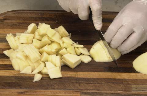 تقطيع التفاح