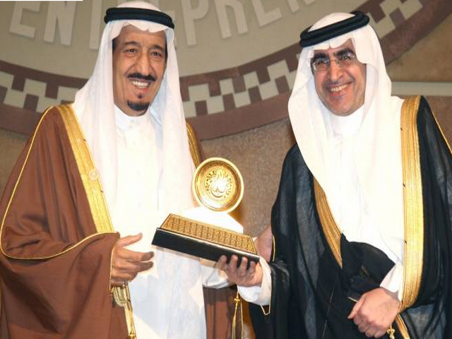 الملك سلمان بن عبدالعزيز ووزير التعليم عزام الدخيل