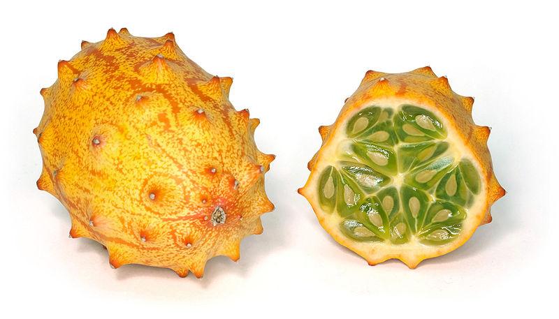 Fruit of Kiwano  Strange fruits that surprise you Strange fruits that surprise you Kiwano horned melon