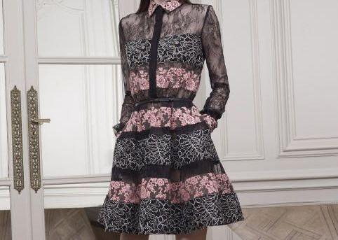 فساتين ايلي صعب 2015 Lined-Short-Dress.jp