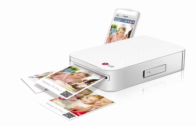 Photos of smartphones Printer طابعة ال جي LG الذكية الصغيرة في الجيب