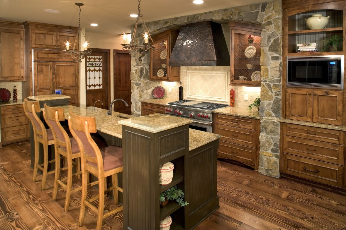 #AE7E1D كيف اصمم مطبخ ريفي المرسال 1180x786 px Imagens De House Kitchen Design_102 Imagens