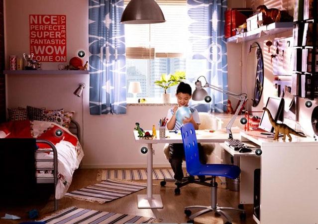 موديلات غرف نوم اولاد من ايكيا | المرسال