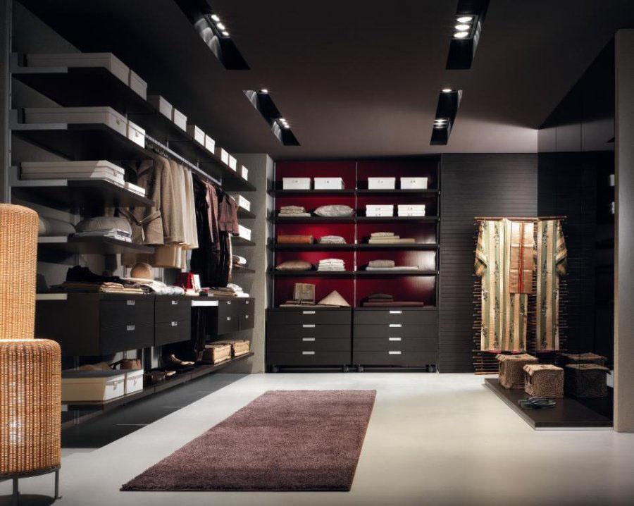 موديلات خزانات الملابس باللون الاسود