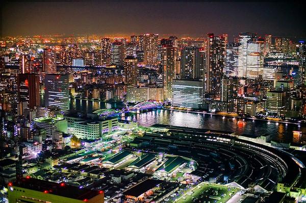 اطلالة على افق مدينة طوكيو