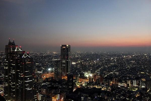 عرض مدهش من مدينة طوكيو