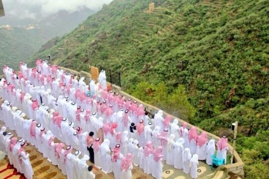 صلاة العيد في جبال فيفاء
