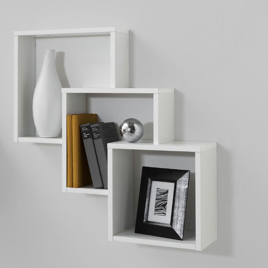 Living Room White Units With Oak
