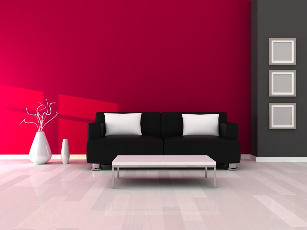 حوائط باللون الوردي