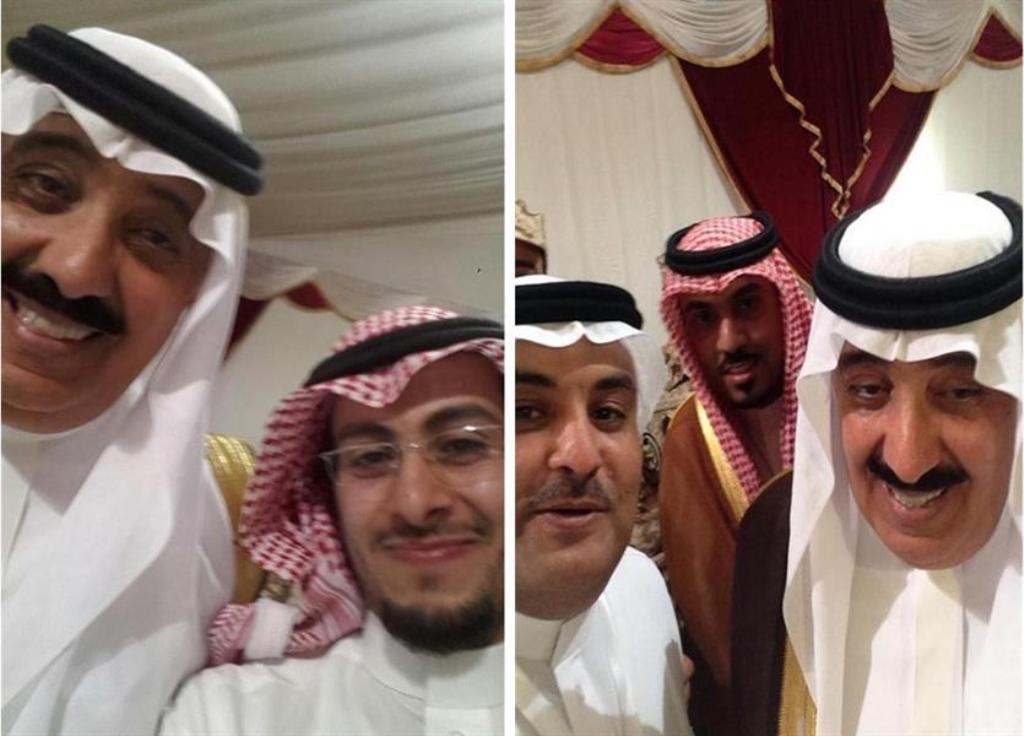 سيلفي للامير متعب بن عبدالله مع عددا من الاعلاميين