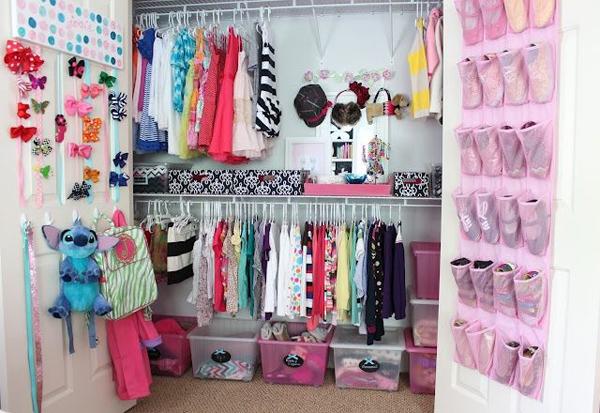 اشكال خزانات ملابس للاطفال من الداخل