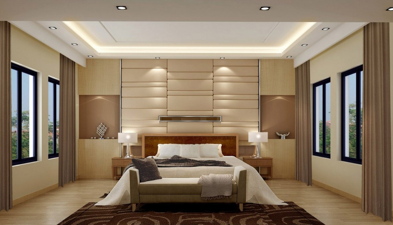 جدران غرف نوم مودرن المرسال 14707 | stylish bedroom feature walls on bedroom with modern bedroom main wall design ideas idea