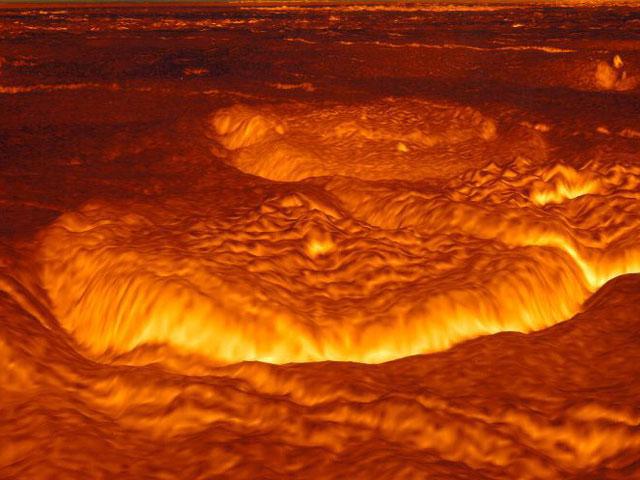 صورة لبركان على سطح كوكب الزهرة