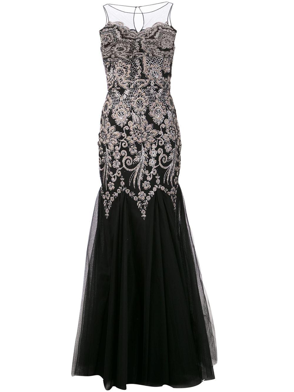 58b3ee93d فستان سهرة أسود من بادجلي ميشكا badgley mischka