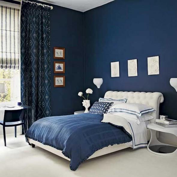 غرف نوم بلون ازرق | المرسال
