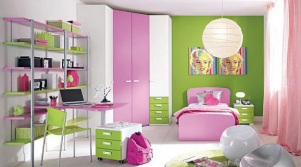 اخضر وبمبي غرف الاطفل 2015