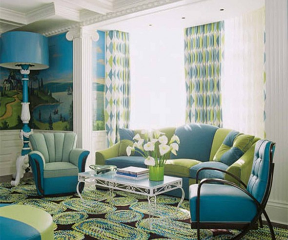 green living rooms decorating