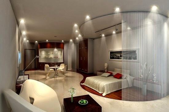 اضاءات وسقف ديكور غرفة النوم | المرسال