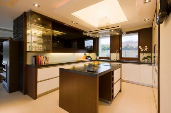 مطبخ حديث باسقف جبسية 2015