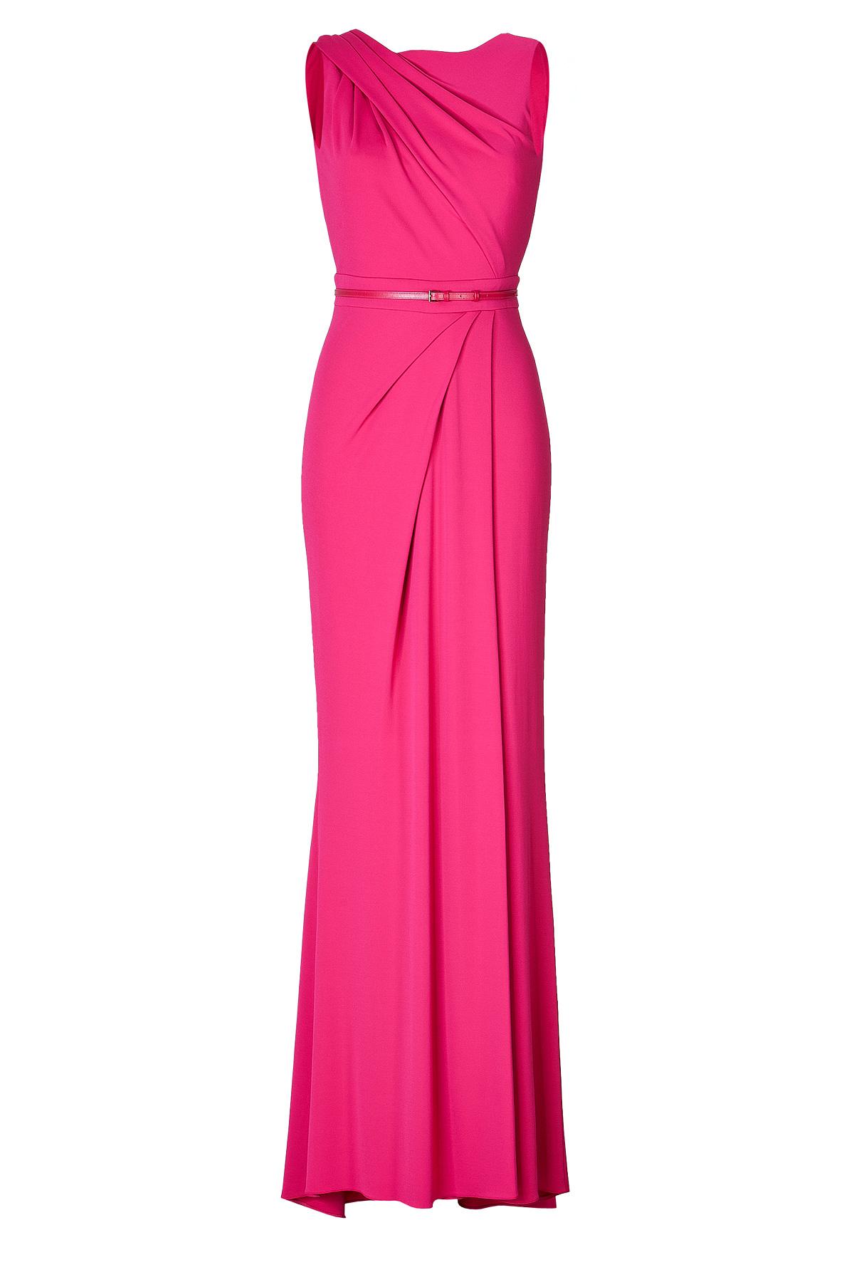 فستان وردي من إيلي صعب elie saab