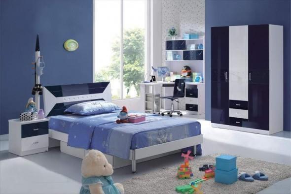 تزيين غرفة نومك بالازرق والابيض