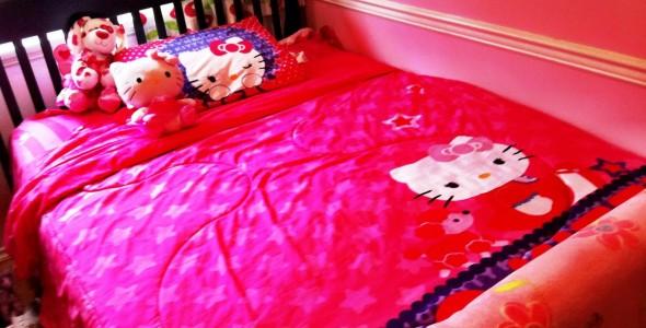 سرير جميل غرف نوم بنات ذوق