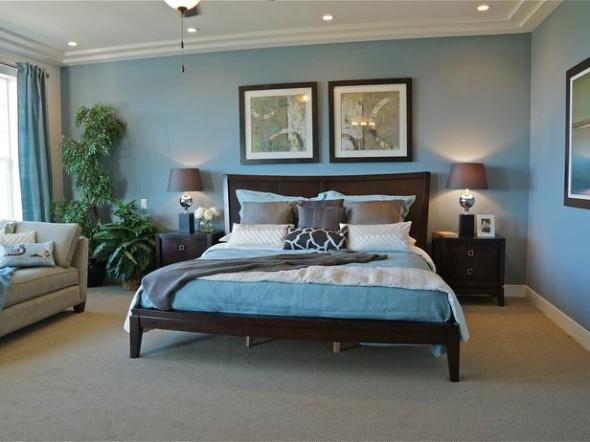 اجمل الوان غرف نوم بلون ازرق | المرسال