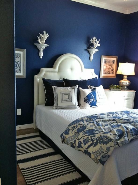 غرف نومك بلون ازرق مبهرة