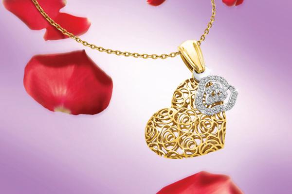 مجوهرات جديدة داماس 2016 Heart-Pendant-Neckla
