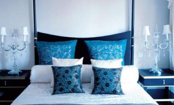 تزيين غرف النوم بلون ازرق