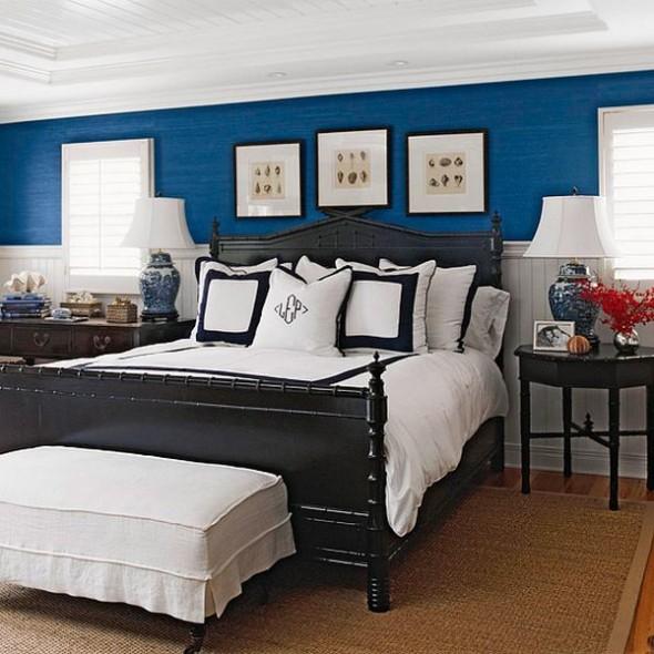 تصميم غرف نوم مذهلة بلون ازرق