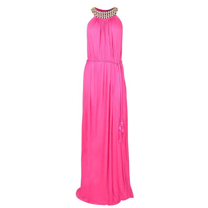 فستان وردي برقبة من ماثيو ويليامسون matthew williamson