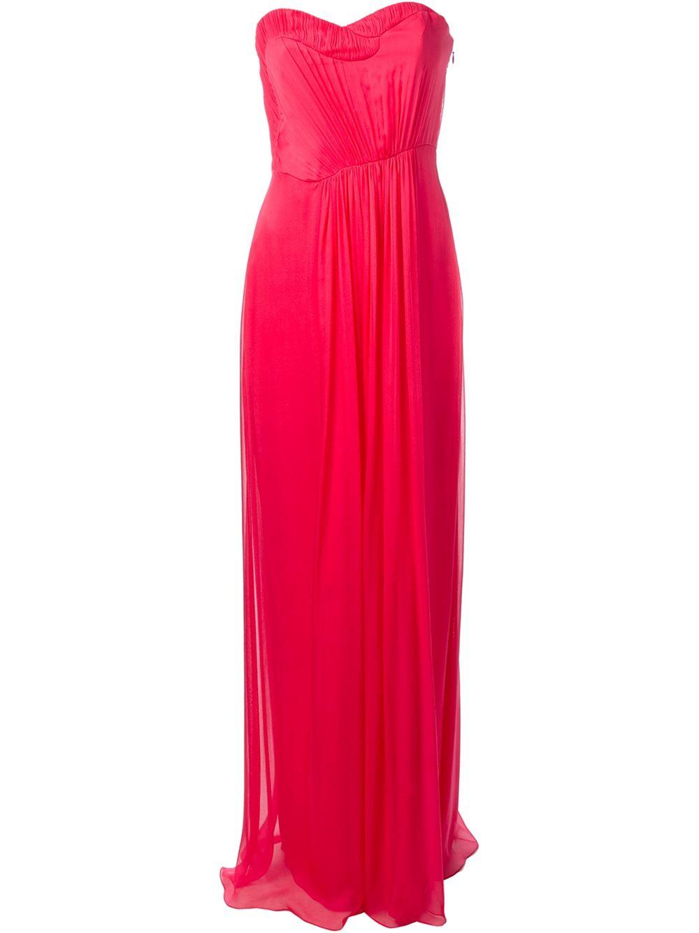 فستان وردي من ماثيو ويليامسون matthew williamson