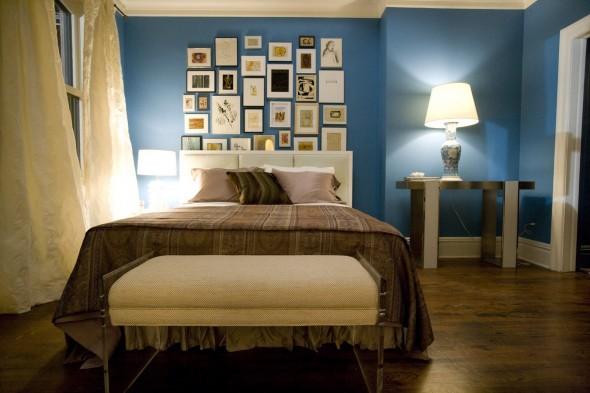 احلى الديكورات بغرف نوم لون ازرق | المرسال