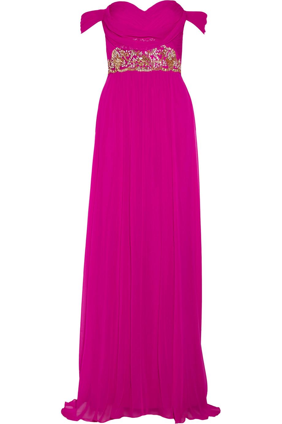 فستان وردي من مارتشيسا marchesa