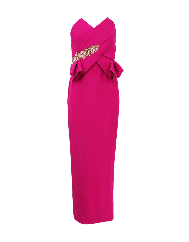 فستان وردي كب من مارتشيسا marchesa