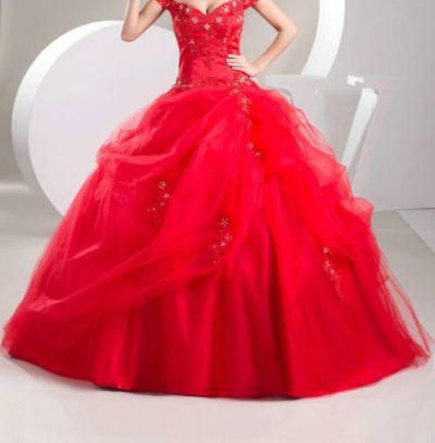 3a208a8b4 فستان أحمر بتنورة شيفون مبطنة بالستان   المرسال