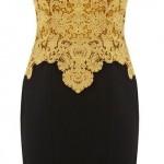 فستان جوبير أصفر في أسود - 209142