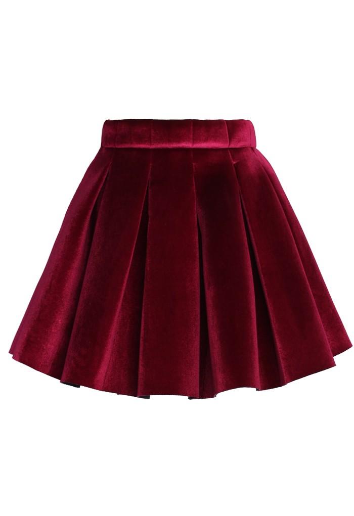 تنورة قصيرة من جلوسي glossy