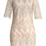 golden lace dress - 209147