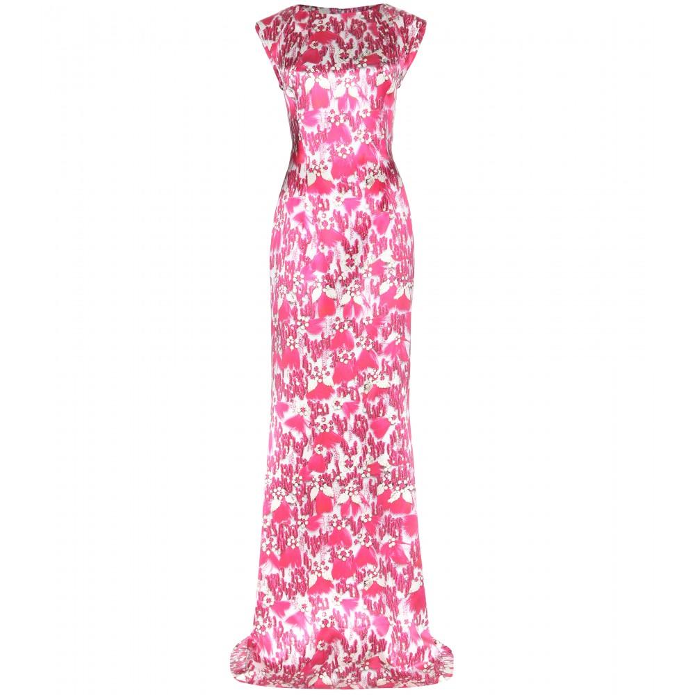 فستان وردي من ماري كاترنتزو mary katrantzou