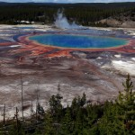 The Grand Prismatic Spring, the largest in the United States and third largest in the world, is seen in Yellowstone National Park, - 208346