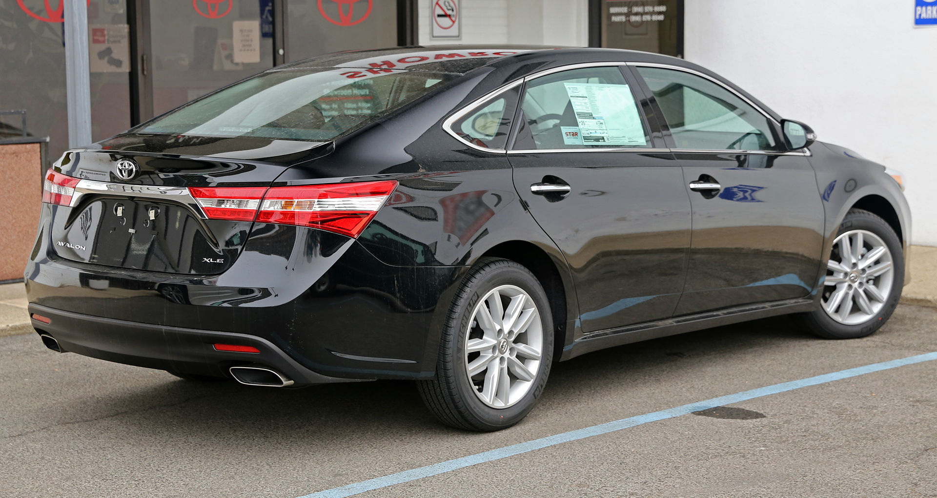 2014 toyota avalon xle rear. Black Bedroom Furniture Sets. Home Design Ideas