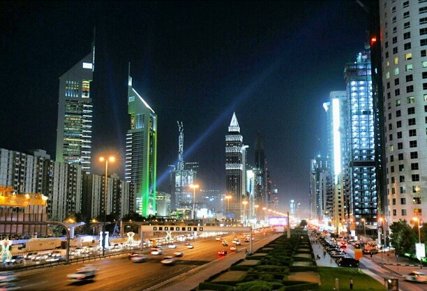 مدينة دبي بالإمارات العربية المتحدة