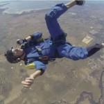 فيديو فقدان الوعي أثناء القفز بالمظلات