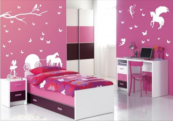 رسومات جدران لغرف نوم بنات | المرسال